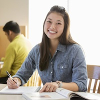 Image of a happy student.